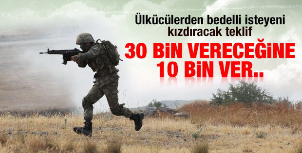 Ülkücülerden bedelli askerliğe tepki afişi