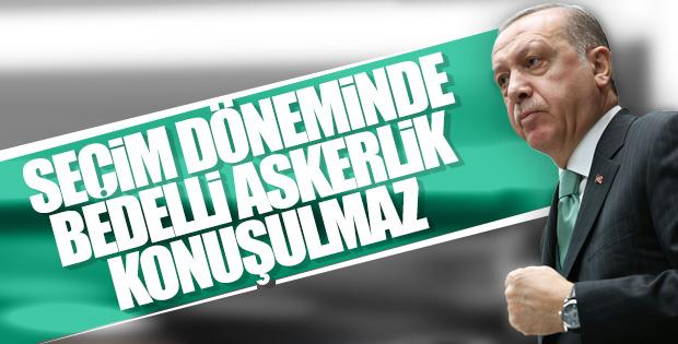 Cumhurbaşkanı Erdoğan'a bedelli askerlik soruldu