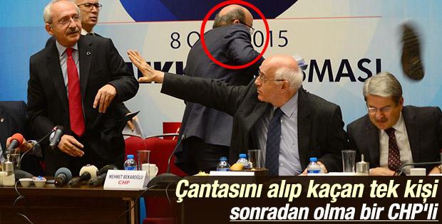 Bekaroğlu Kılıçdaroğlu'na saldırı sırasında kaçtı İZLE