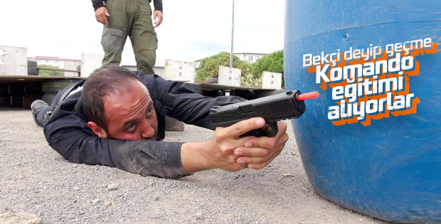 İstanbul'da bekçilere komando eğitimi