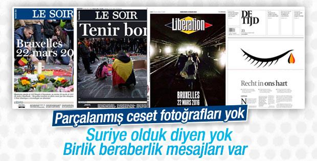 Belçika basınında teröre karşı birlik mesajları