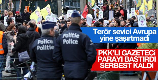 Belçika PKK gazetecisini serbest bıraktı