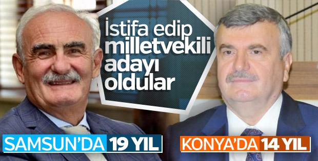 Konya ve Samsun belediye başkanları istifa etti