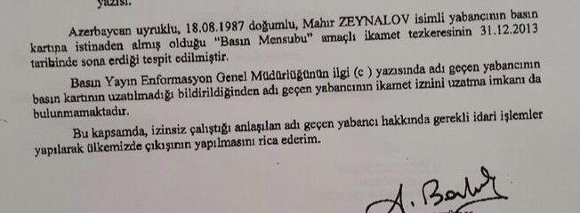 Mahir Zeynalov sınır dışı edildi - izle