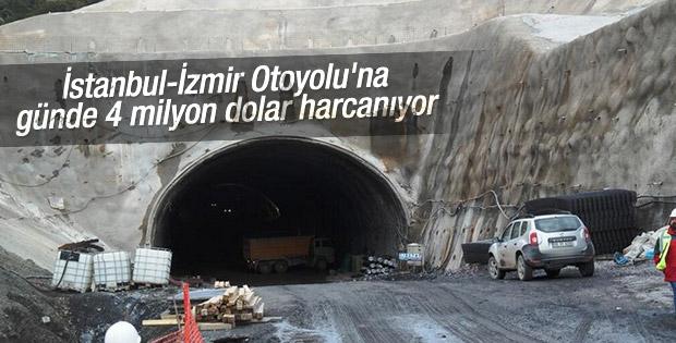 İstanbul-İzmir Otoyolu'na günde 4 milyon dolar harcanıyor