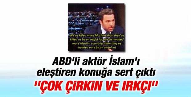 Ben Affleck İslam'ı eleştiren konuğa sert çıktı