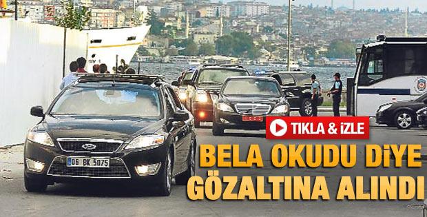 Beşiktaş'ta Erdoğan'ı protestoya gözaltı - izle