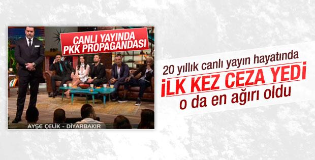 Beyaz Show'a rekor PKK propagandası cezası