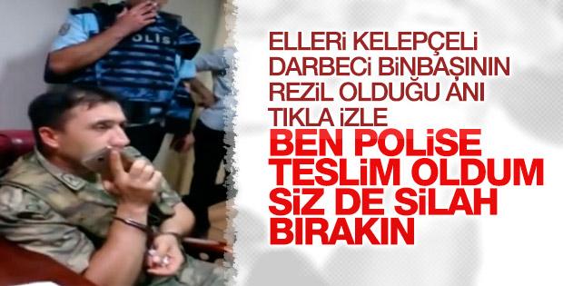 Polisler tarafından gözaltına alınan komutan
