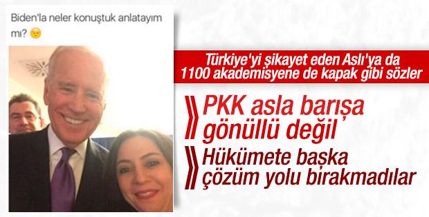Joe Biden: PKK asla barışa gönüllü değil
