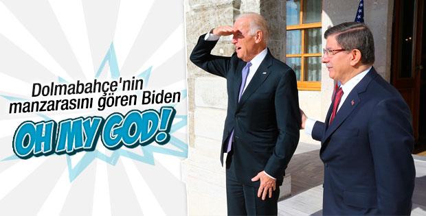 Joe Biden Dolmabahçe'nin manzarasına hayran kaldı