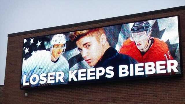 Justin Bieber'ı kızdıran billboard