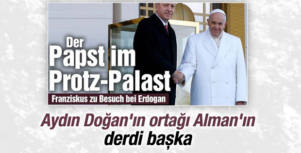 Papa'nın ziyareti Alman Bild'i rahatsız etti
