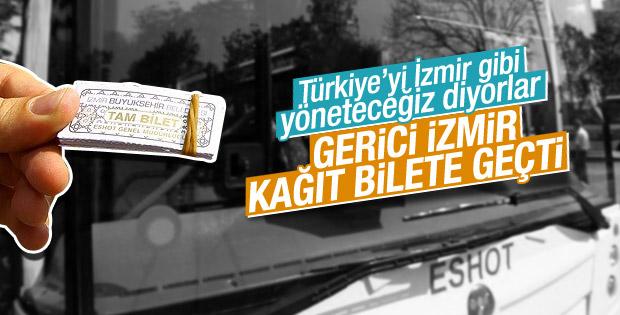 İzmir'de toplu ulaşımda kağıt bilet dönemi