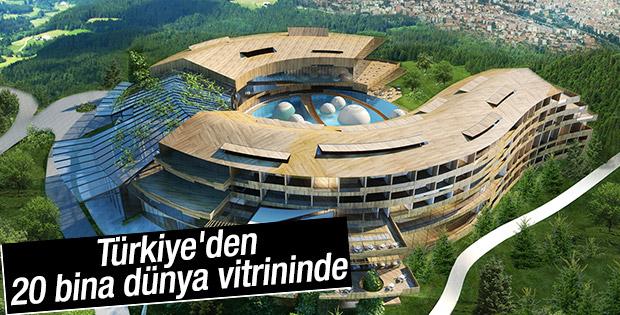 Türkiye'den 20 bina dünya zirvesinde
