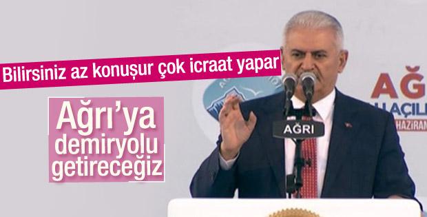 Başbakan Binali Yıldırım Ağrı'da konuştu