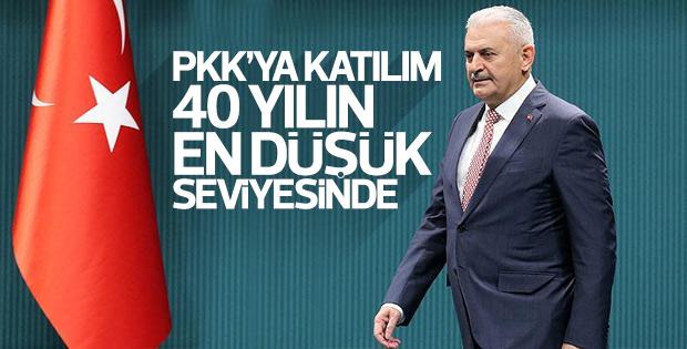 Binali Yıldırım PKK'ya katılımın azaldığını açıkladı