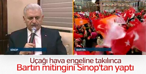 Başbakan videokonferansla Bartınlılara seslendi