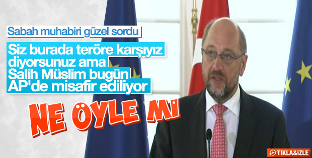 Sabah muhabirinden Schulz'a zor sorular