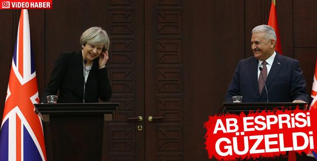 Binali Yıldırım'dan Theresa May'i güldüren espri
