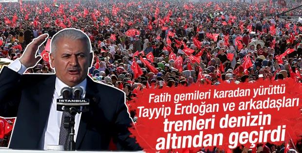 Başbakan Yıldırım İstanbul'un fethi kutlamalarında konuştu