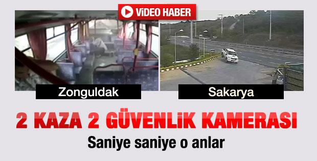 Biri Sakarya'da biri Zonguldak'ta iki kaza - izle