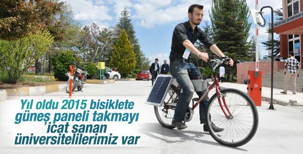 Konyalı öğrenci güneş enerjisiyle çalışan bisiklet yaptı