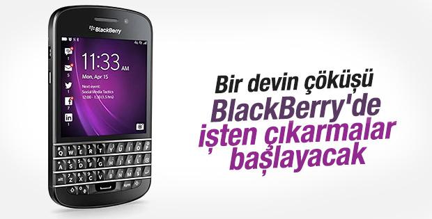 BlackBerry'de işten çıkarmalar