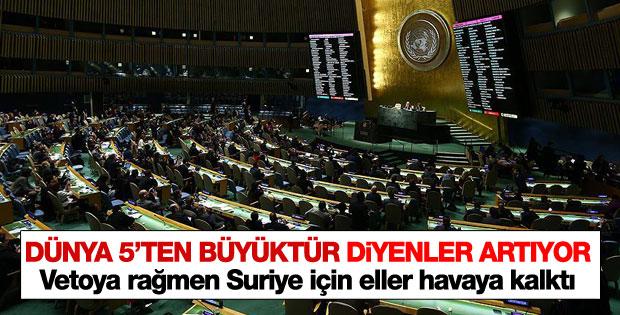 Birleşmiş Milletler'de Suriye tasarısı yeniden geçti