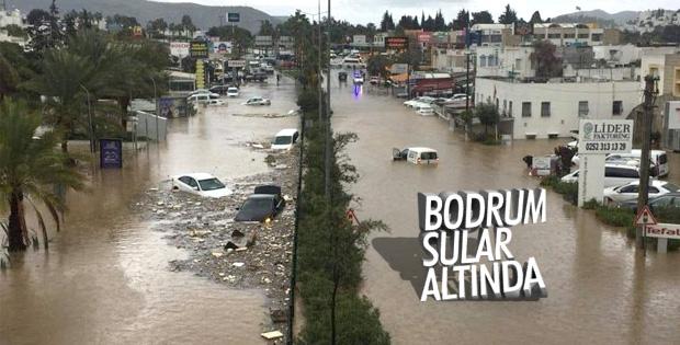 Bodrum'da aşırı yağış