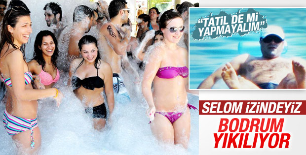 Tatilciler Bodrum'da plajları doldurdu