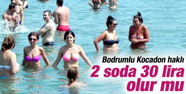 Bodrum'da turistlere 2 soda 30 lira