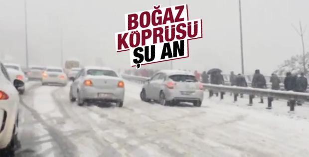 İstanbullular Boğaz geçişinde yürümek zorunda kaldı
