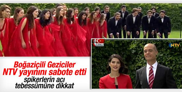 Boğaziçi Caz Korosu NTV canlı yayınını trolledi