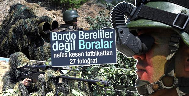 Boralar'dan nefes kesen tatbikat görüntüleri