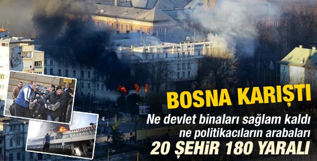 Bosna Hersek'te şiddetli protestolar - izle