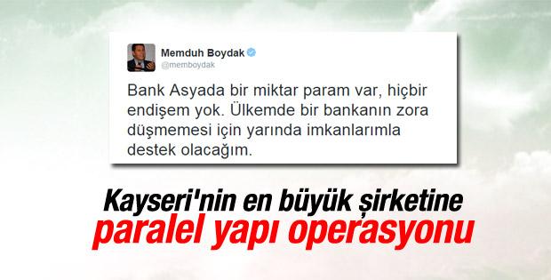 Boydak Holding'in yöneticilerine paralel yapı operasyonu