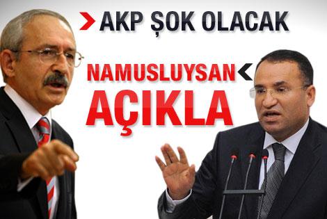 Bozdağ: Kılıçdaroğlu namusluysa açıklar