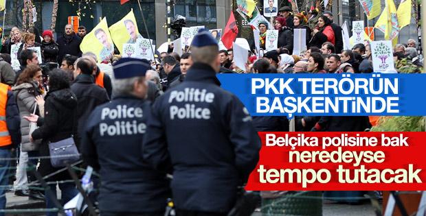 Belçika'da PKK gösterisi