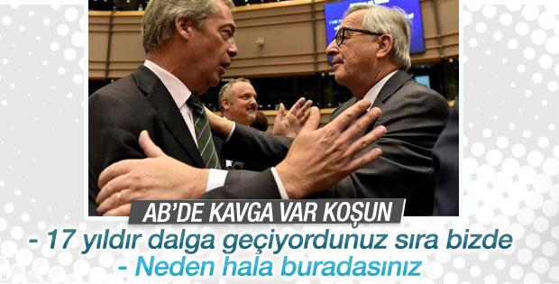 Avrupa Parlamentosu'nda Brexit kavgası