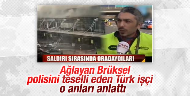 Havalimanı güvenliği ağladı Türk işçi teselli etti