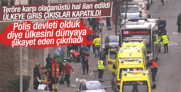 Belçika'da ülkeye giriş çıkışlar kapatıldı