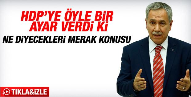Bülent Arınç: HDP üstüne düşen misyonu yerine getirmeli
