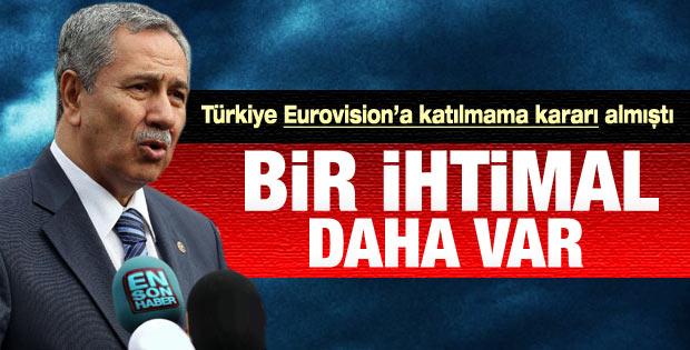 Bülent Arınç'tan Eurovision yorumu