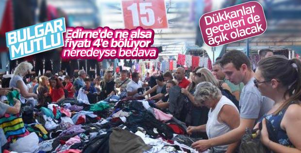 Edirne'de dükkanlar turistler için gece de açık olacak
