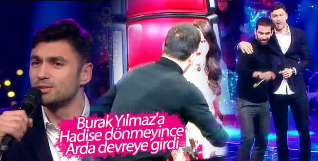 O Ses Türkiye'de Arda Turan'dan Burak Yılmaz'a destek