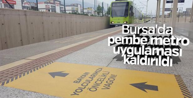 Bursa'da pembe vagon uygulamasına son verildi
