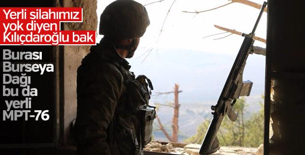 Mehmetçik Burseya Dağı'nda güvenliği sağladı
