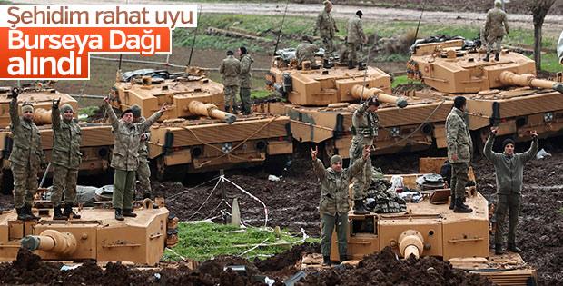 Mehmetçik Burseya Dağı'nı teröristlerden temizledi