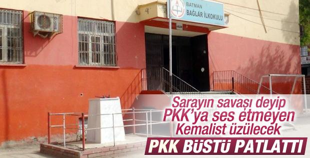 Batman'da Atatürk büstüne bombalı saldırı